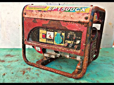 Restoration Japan Technology Generator - Revive Old Rusty 1500w Generator (gas Engine)
