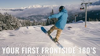 Your First Frontside 180s On A Snowboard