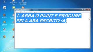 Como escrever no PAINT