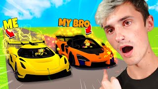 I Raced my Brother with 1,000,000,000$ EXOTIC CARS.. (Roblox)
