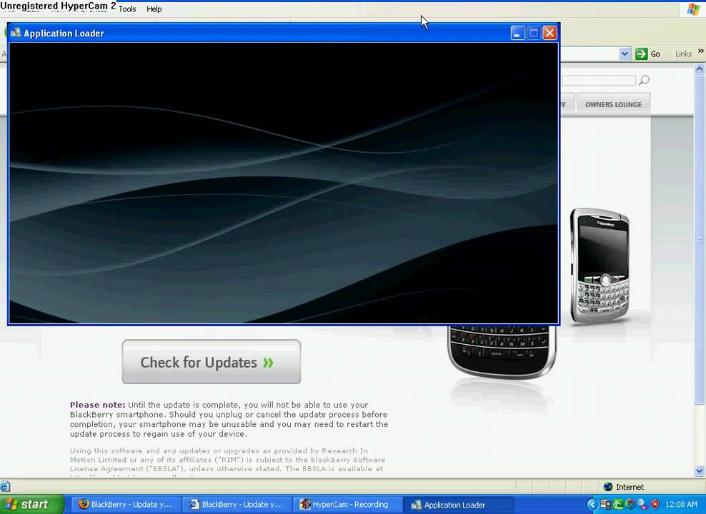 updating blackberry 8310
