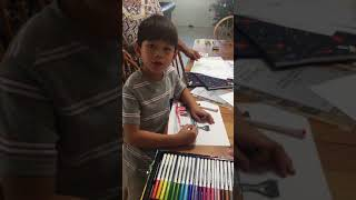 How to draw a train for kids
