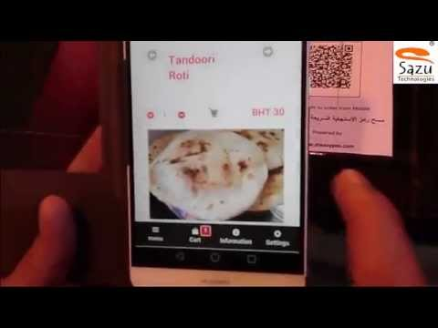 Mobile Ordering System For Restaurants using QRCode