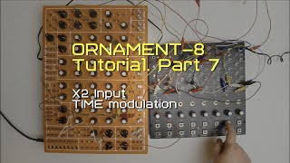Ornament-8 Tutorial Part 7. X2 input and TIME modulation.