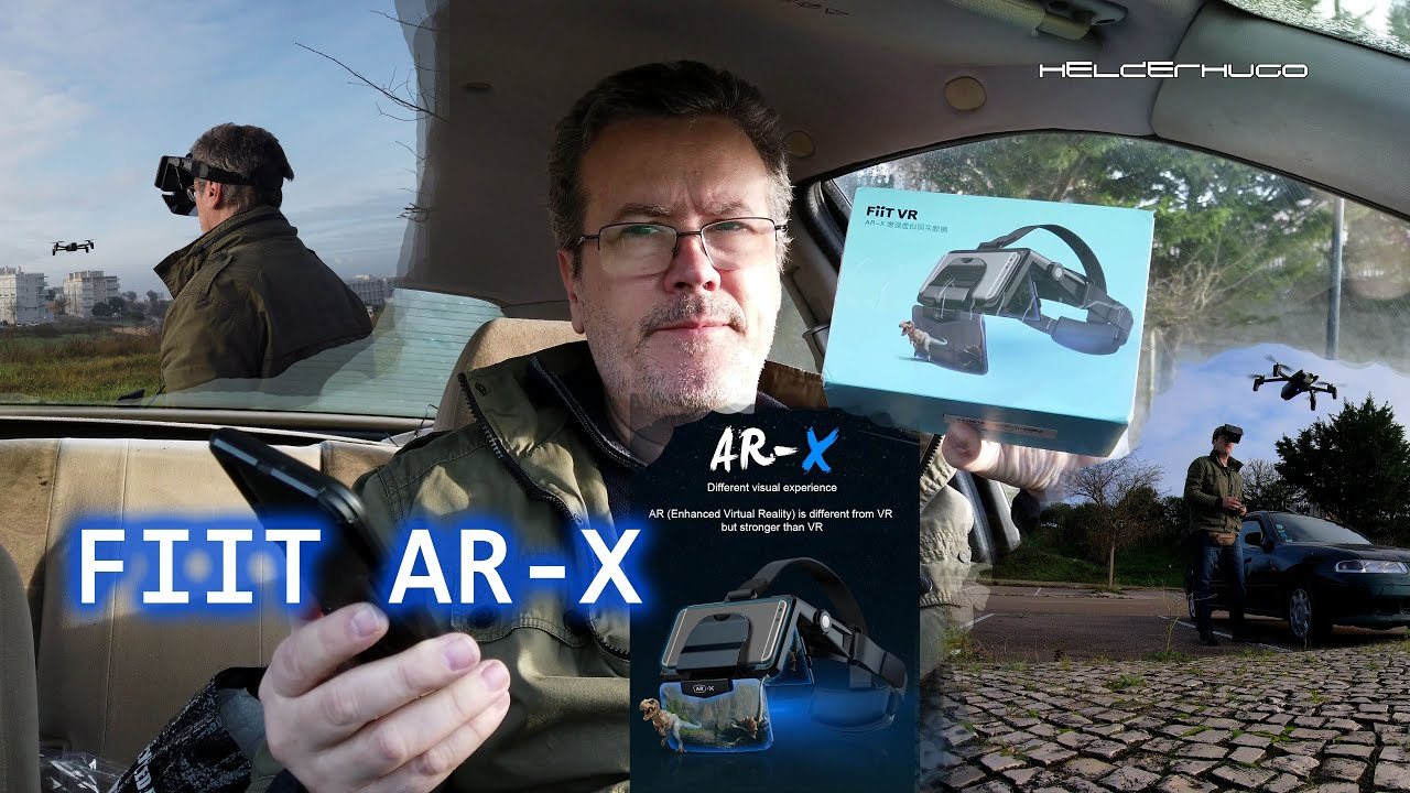 FIIT AR-X VR FPV Glasses with Parrot Anafi Drone