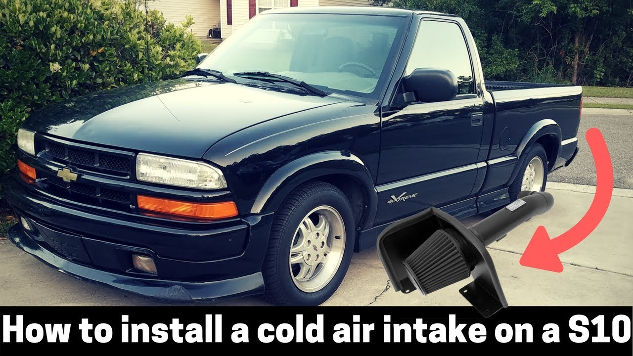 """BLACK BLUE 94 95 96 97 CHEVY S10 XTREME//HOMBRE//SONOMA 2.2L COLD AIR INTAKE 3/"""""""