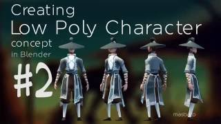 Blender 2.73 texture painting character concept low poly speed modeling