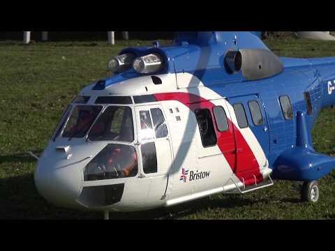 Huge R/C Turbine Super Puma Scale Model Helicopter Bristow Offshore Eurocopter EC-225