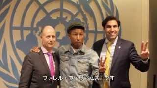 """3月20日、国連本部で開催された「国際幸福デー」記念イベントに """"Happy""""..."""