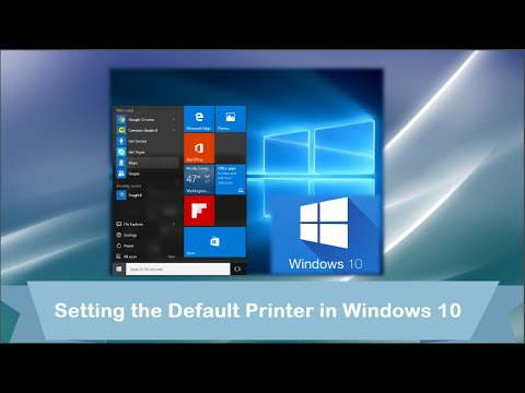 Windows 10: Setting the Default Printer