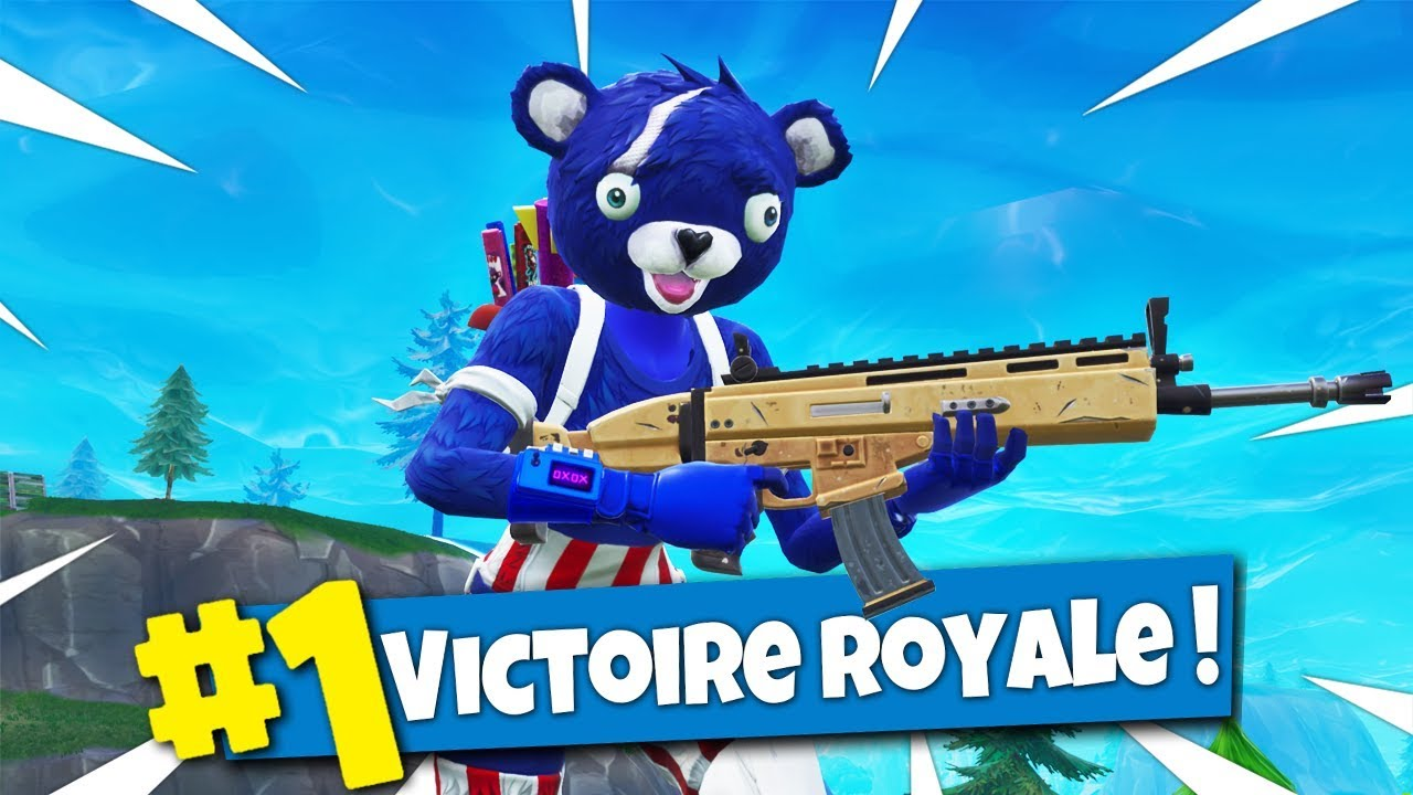 Top 1 avec le nounours bleu sur fortnite battle royale - Dessin de calin ...