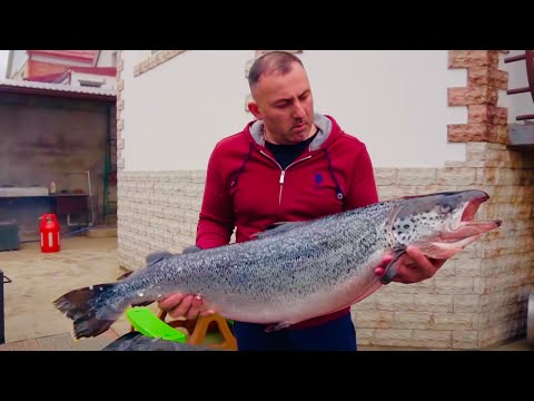 SALMON in a SMOKER. ENG SUB