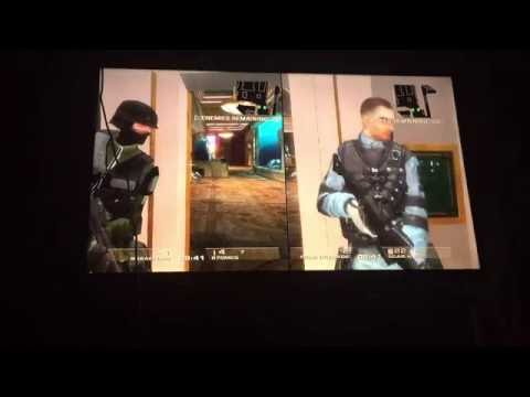 Split Screen-Rainbow Six Vegas Terrorist Hunt Casino Part 3