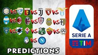 My Serie A Predictions Week 29
