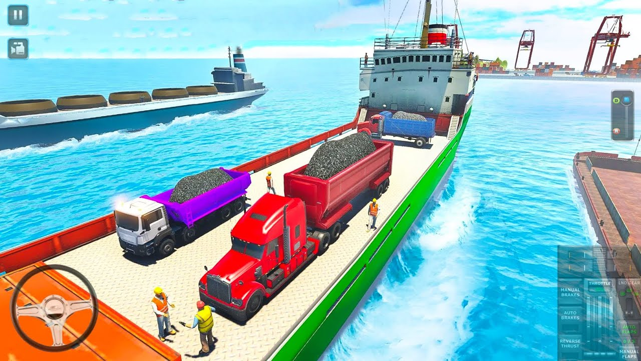 Coal Truck Transport Simulator - Transportation By Ship and Plane - Android Gameplay