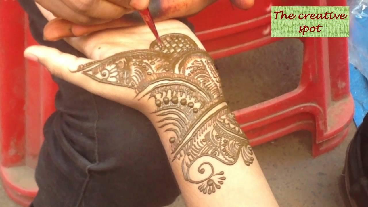 Mehndi Artist : Street side mehndi artist work in chennai youtube
