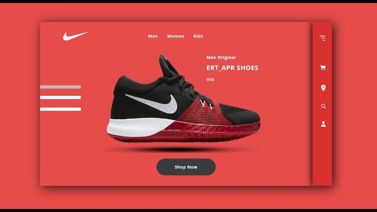 Landing Page Nike Shoes Web Ui Design In Adobe Xd Web Design Tutorials For Beginners