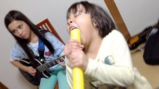 Audrey & Kate enjoying Zetsubou Billy by Maximum The Hormone. Kate ...