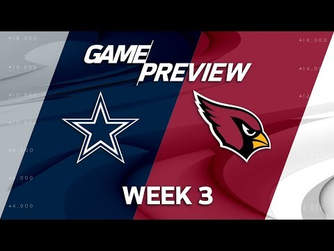 Dallas Cowboys vs. Arizona Cardinals | Week 3 Game Preview | NFL Playbook
