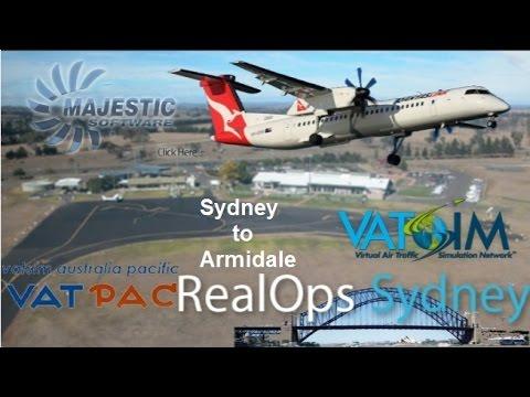Sydney To Armidale On Vatsim. Vatpac Sydney Real Ops Majestic Q400