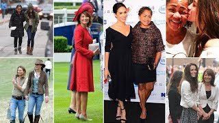 Kate and Meghan's mumalikes: From Carole and Doria's humble upbringings to their air hostess jobs
