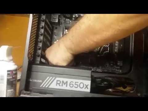 MSI Z170a Gaming Pro Carbon Power & Fan connection & Smoke Test