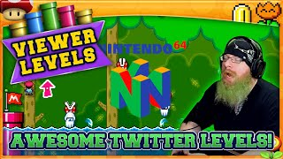 AWESOME TWITTER LEVELS! [3] Super Mario Maker 2 Super Viewer Levels with Oshikorosu!