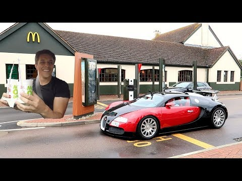 MCDONALD'S DRIVE THRU WITH A BUGATTI VEYRON!!