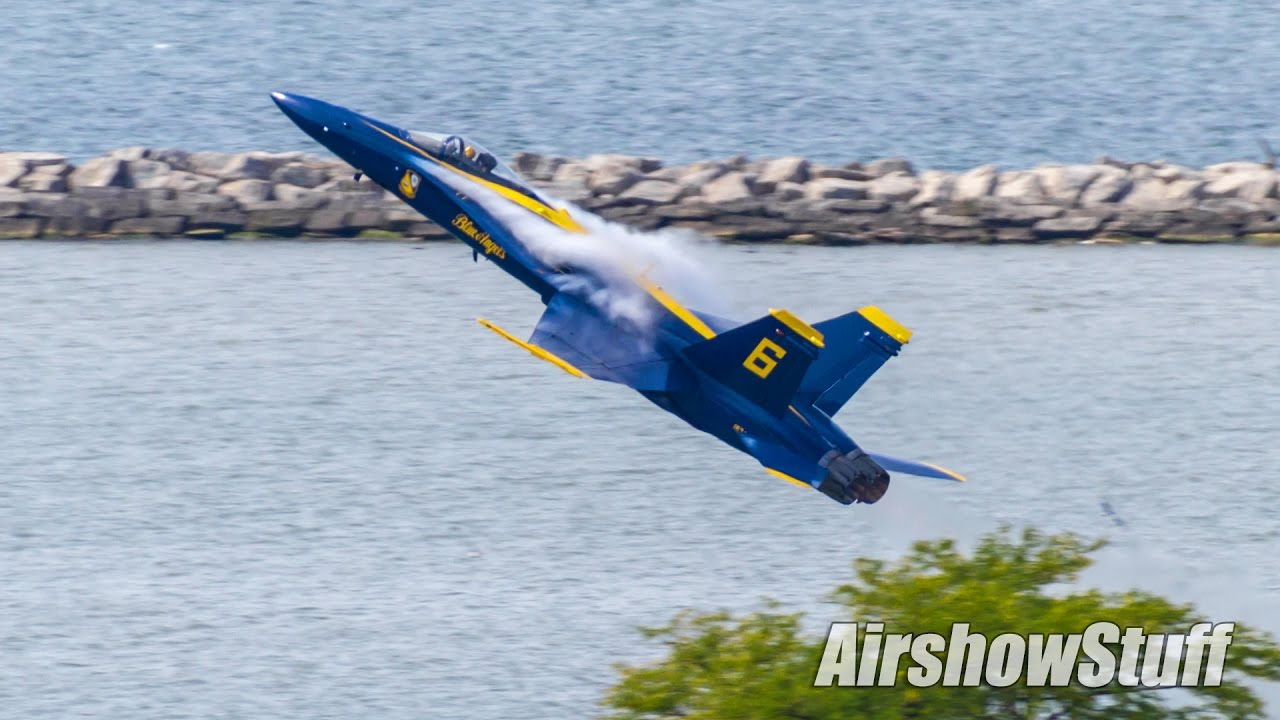 Air Show Cleveland 2020.Us Navy Blue Angels Takeoffs Cleveland National Airshow 2016