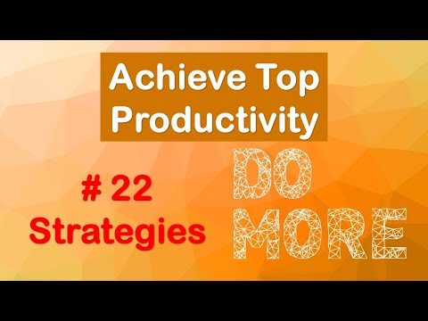 how-to-be-a-top-performer-:-achieve-top-productivity-&-get-more-done-|-seeker2achiever-|-english