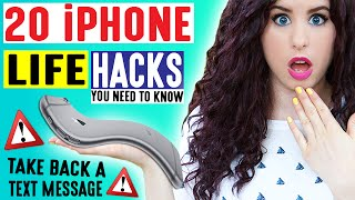 20 iPhone Life Hacks | Take Back A Text Message | iPhone Hacks For School & Life You May Not Know!