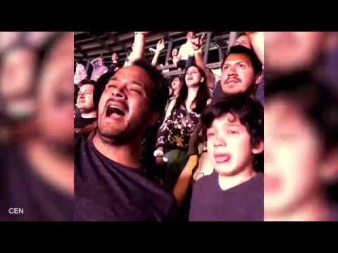 Emotional moment autistic boy breaks down in tears as he watches favorite band Coldplay