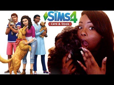 VET CAREER!!! OMG 😱 | THE SIMS 4 CATS & DOGS TRAILER REACTION