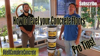 DIY How to Self Level your Concrete Floors