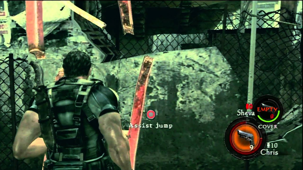 Resident Evil 5 Ps3 Move Gameplay Using Move Controller Youtube