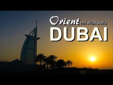 Dubai Orient Kreuzfahrt mit AIDAstella Miracle Garden, Dubai Marina, Atlantis The Palm, Burj al Arab