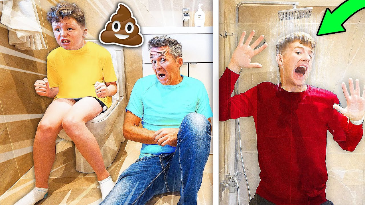 LAST TO LEAVE THE BATHROOM Wins £1000 Challenge w/ Family 4