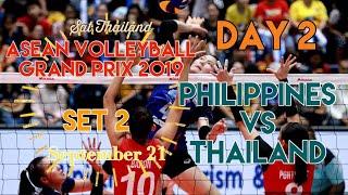 PHILIPPINES vs. THAILAND   SET 2   ASEAN VOLLEYBALL GRAND PRIX 2019   DAY 2