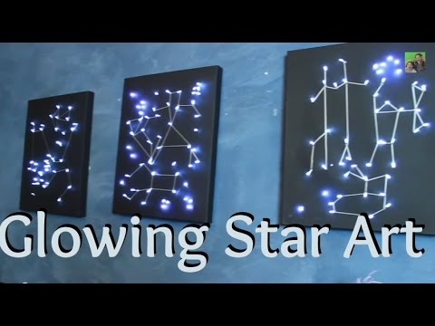 Diy Craft Light Up Star Constellation Art Youtube