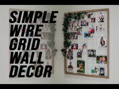 Simple Wire Grid Wall Decor for hanging photos ++ *re-upload*