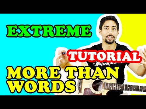 CANZONI ROMANTICHE DA SUONARE | More Than Words - Extreme | Tutorial Accordi Chitarra Fingerpicking
