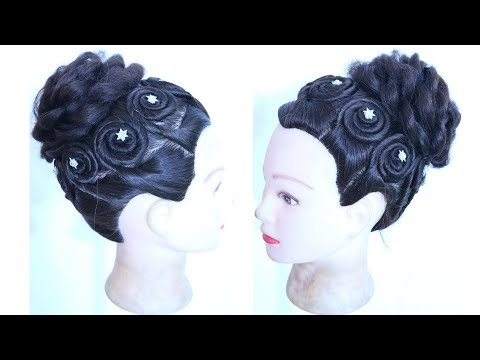 New Easy And Beautiful Wedding Hairstyle Bridal Bun Updo
