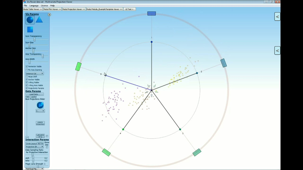 MPV - ProjectionViewer - Projective Min Distance Error (english)
