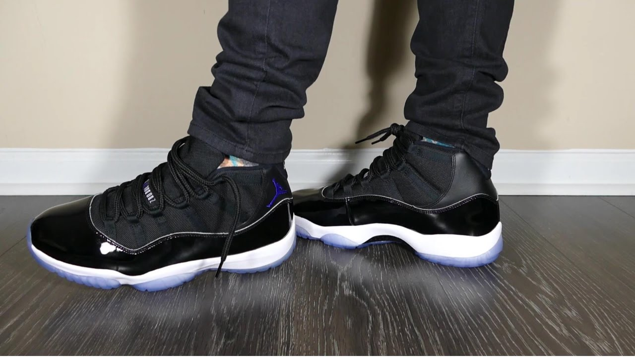 6b76488a045c Jordan Retro 11 Space Jam Review W On-Feet - YouTube
