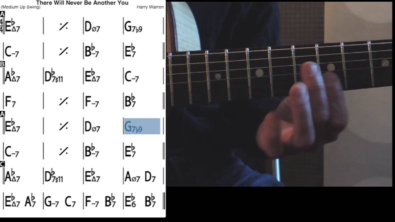There will never be another you   Guitar lessons   Tab + Melody