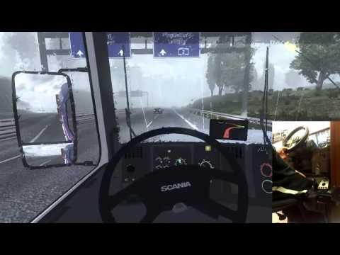Scania 113 com pente na turbina - ETS 2 - Modificações (Logitech G27) Video 03