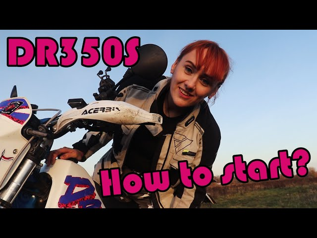 DR350S - How to kick start dirt bike and how to use decompression lever.