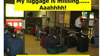 DEALING WITH LOST LUGGAGE Learn an American Accent Fast ! Episode 42