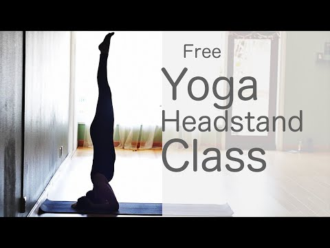 50 Minute Yoga Flow Vinyasa (How to do a headstand) | Fightmaster Yoga Videos