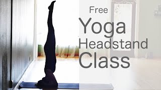 How to do a headstand Vinyasa Flow Yoga Class: Free Yoga With Fightmaster Yoga